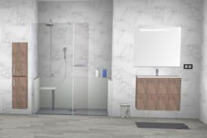 douche sécurisée simulation 3D
