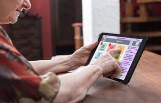 Une tablette tactile pour seniors